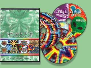 learn how to tie dye 3 DVD set