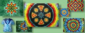 tye dye shirts and tapestries